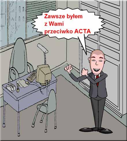 Tusk nie ma zamiaru ratyfikować ACTA
