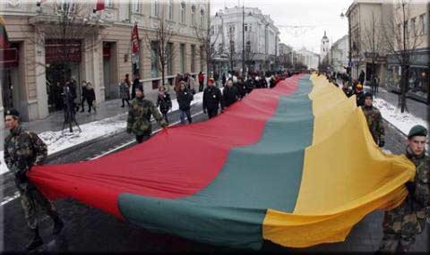 Litwini celebrują litewskość (fot. AP)