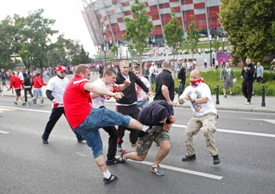 Przy okazji meczu Polska - Rosja (fot. ridus.ru)