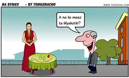 Mogło się zdarzyć na rynku w Łodzi (ilustr. Nacho)