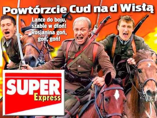 "Brukowiec ""Super Express"" zachęca do boju (fot. se.pl)"