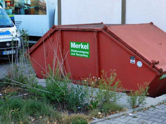 Merkel - oczyszczanie miasta i recycling