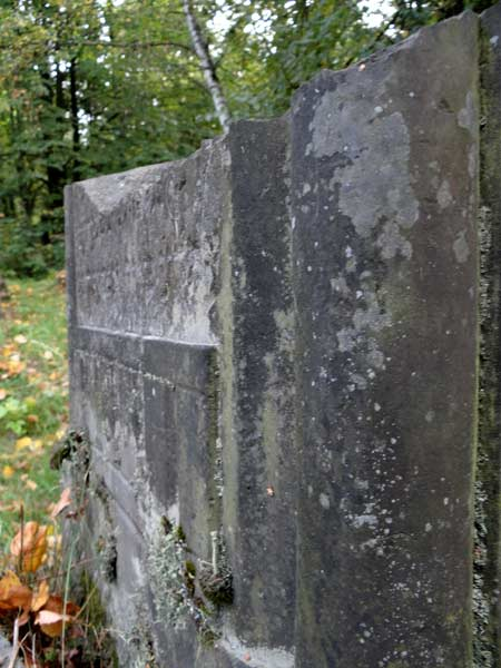 Nagrobki na cmentarzu żydowskim w Łodzi niszczy nie tylko upływ czasu (fot. własna)