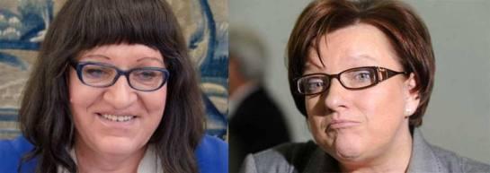 Anna Grodzka kontra Beata Kempa (zdj. z internetu)
