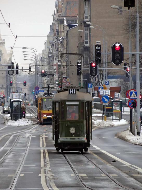 zabytkowym tramwajem po Narutowicza (aut. Nacho)